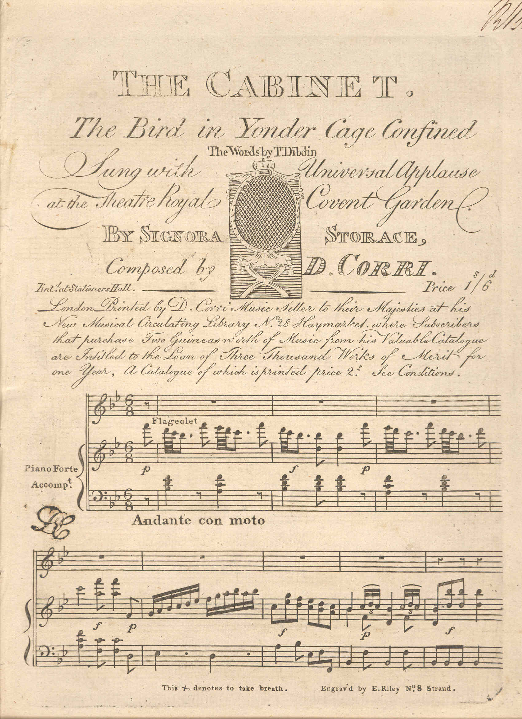 The Cabinet, First Page
