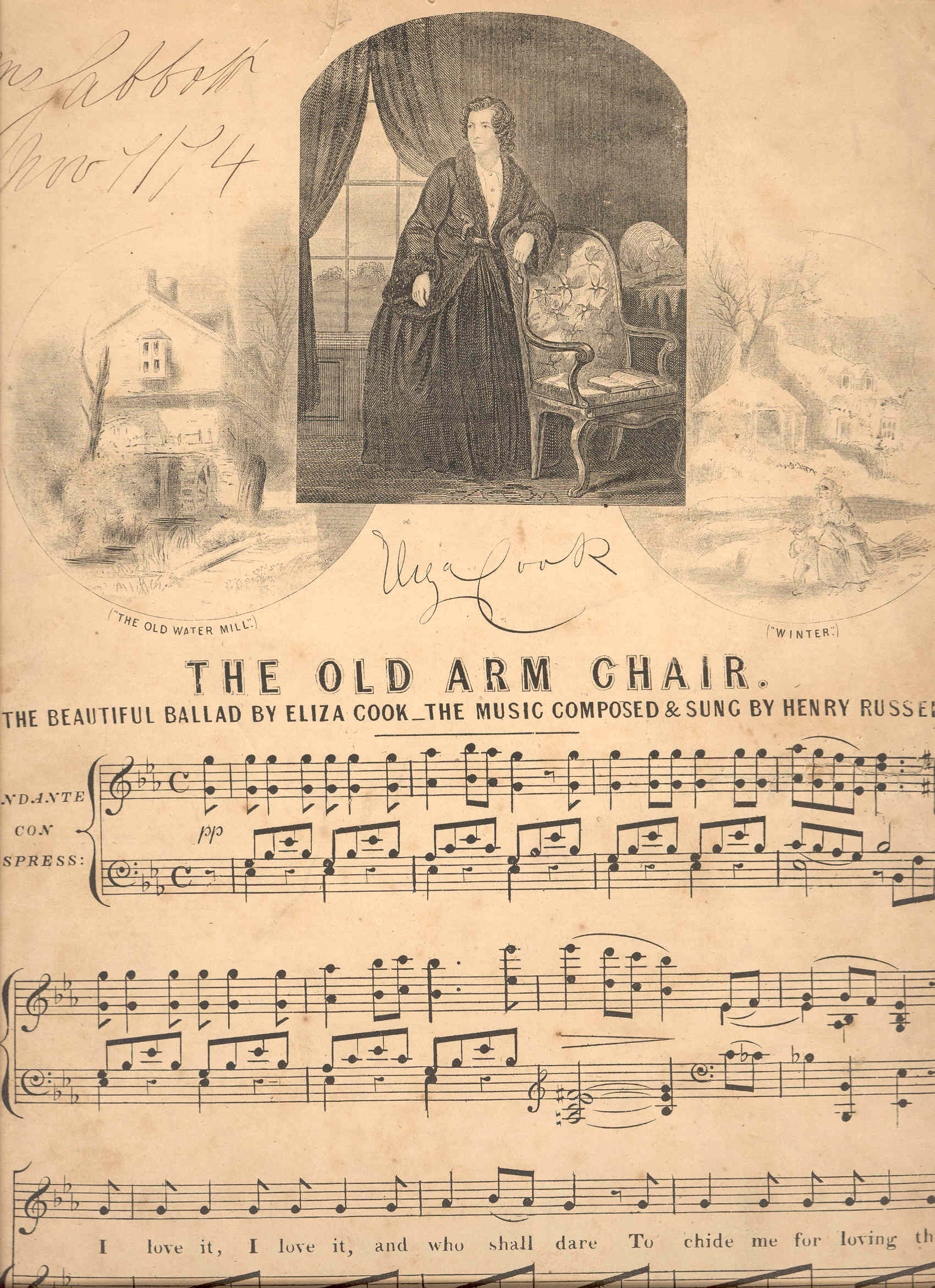 Old Arm Chair, First Page