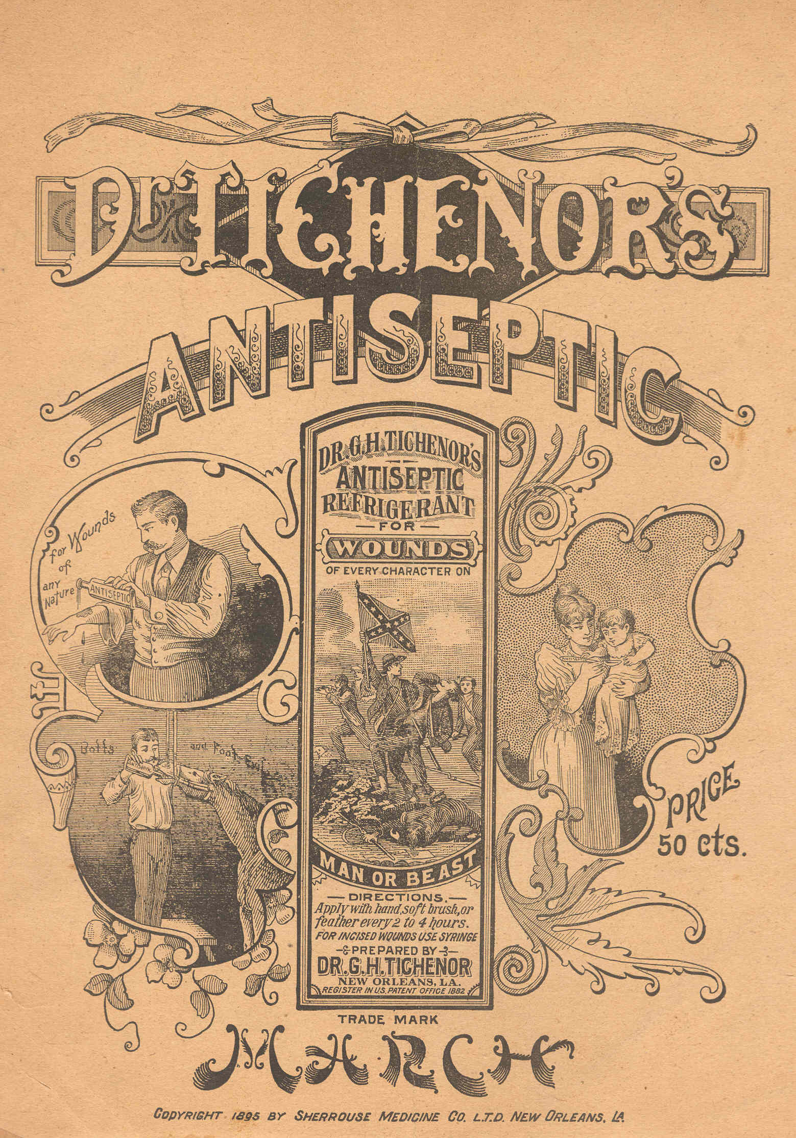 Dr. Tichenor's Antiseptic March, Front Cover