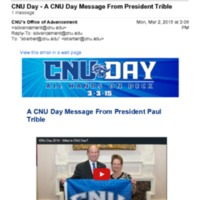 2.2 O CNU Day - A CNU Day Message From President Trible
