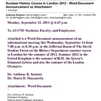 2.24 E Information Meeting: HIST 276 Egypt in the U.K.