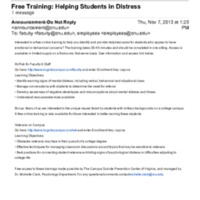 3.35 B Free Training: Helping Students in Distress