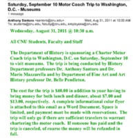 3.23 D Saturday, September 10 Motor Coach Trip to Washington, D.C. - Museums