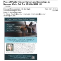 2.53 A Piece of Public History: Careers and Internships in Museum Work