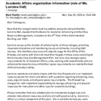 2.21 D-3 Academic Affairs organization information (role of Ms. Lorraine Hall)