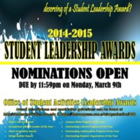 2.33 D Nominations for '14-'15 Student Leadership Awards