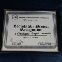 3.32 A Legislative Project Recognition