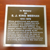 1.12 E E.J. King Meehan Plaque