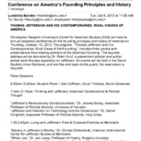 2.49 A Conference on America's Founding Principles and History