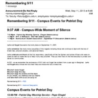 1.9 ZD Remembering 9/11 - Campus Events for Patriot Day