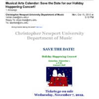 1.9 V Save the Date for our Holiday Happening Concert!