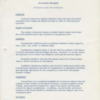 1.2 Honorary Degrees - Criteria and Procedures