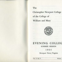 2.1 A Evening College Residence Course Catalog, Summer Session 1964