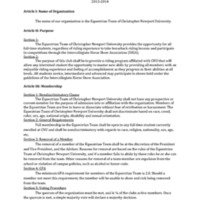 5.3 ZE Constitution of the Equestrian Team of Christopher Newport University 2013-2014