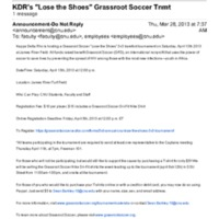 """5.2 ZT KDR's """"Lose the Shoes"""" Grassroot Soccer Tnmt"""