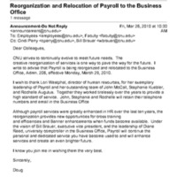 2.21 D-6 Reorganization and Relocation of Payroll to the Business Office