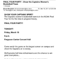 2.3 B-5 FINAL FOUR PARTY - Cheer the Captains Women's Basketball Team