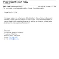 2.47 A-3 Pope Chapel Concert Today