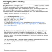 2.25 E Spring Break Housing