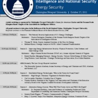 2.49 A 3rd Annual Workshop on Intelligence and National Security - Energy Security