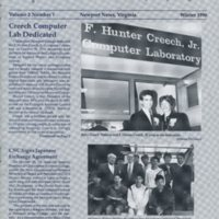 5.1 A-1 Winter 1990 CNC News: For Alumni and Friends of Christopher Newport College
