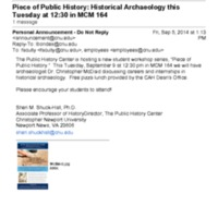 2.53 A Piece of Public History: Historical Archaeology