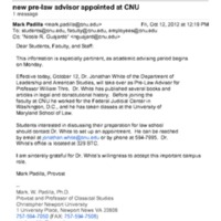 4.12 new pre-law advisor appointed at CNU