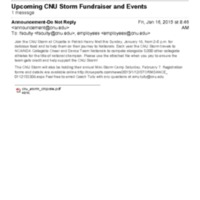 2.3 U Upcoming CNU Storm Fundraiser and Events