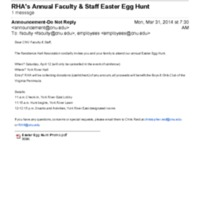 2.25 C RHA's Annual Faculty & Staff Easter Egg Hunt (2014)
