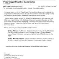2.47 A-3 Pope Chapel Chamber Music Series