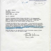 1.4 C-4 Letter to Anderson re: Speech published in the Congressional Record