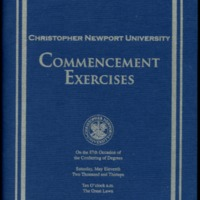 1.8 A-1 Program of Commencement Exercises, May 11, 2013