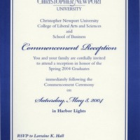 1.8 A-5 Commencement Reception, May 8, 2004