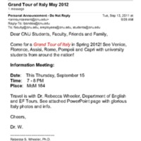 1.9 D-7 Grand Tour of Italy May 2012