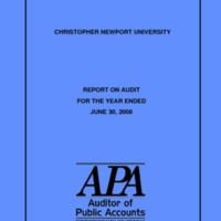 2.17 A Report on Audit for the Year Ended June 30, 2008