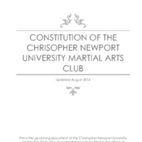 5.3 ZZY Constitution of the Christopher Newport University Martial Arts Club