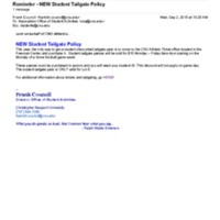 2.3 E-2 NEW Student Tailgate Policy