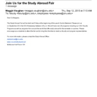 2.40 C Join Us for the Study Abroad Fair (2013)