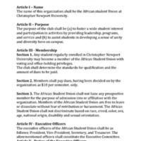 5.3 X African Student Union Constitution/Bylaws