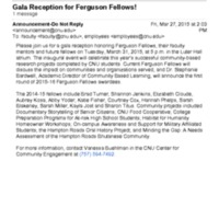 2.46 D Gala Reception for Ferguson Fellows!