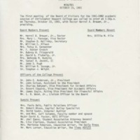 1.2 B Christopher Newport College Board of Visitors Minutes October 15, 1981