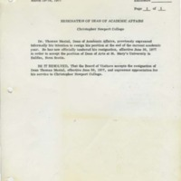 1.2 Board of Visitors, Resolutions, March 18-19, 1977