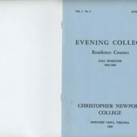 2.1 A Evening College Residence Course Catalog, Fall Semester 1962-1963