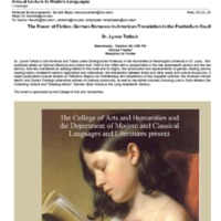 3.30 C Modern and Classical Languages and Literatures Annual Lecture in Modern Languages (2013)