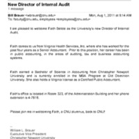 2.17 Email: New Director of Internal Audit - Faith Belote