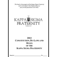5.2 ZJ 2013 Constitution, By-Laws and Rules of the Kappa Sigma Fraternity