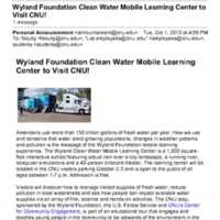 2.46 B-4 Wyland Foundation Clean Water Mobile Learning Center to Visit CNU!