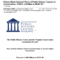 2.53 A History Meets Science! Piece of Public History: Careers in Conservation