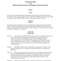 5.3 E Constitution of the Ballroom Dance Society of Christopher Newport University<br />