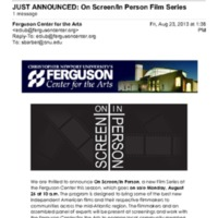 2.13 A JUST ANNOUNCED: On Screen/In Person Film Series